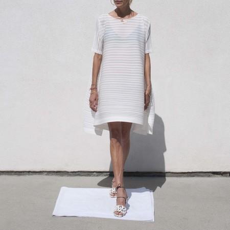 Pleats Please by Issey Miyake Komorebi Bouncy Dress - white
