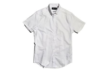 Milworks Oxford Short Sleeve Shirt - White