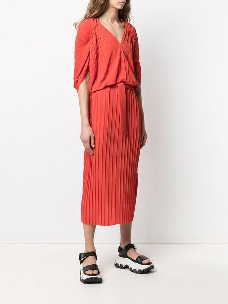Henrik Vibskov New Jelly Plissé Dress - Red Clay