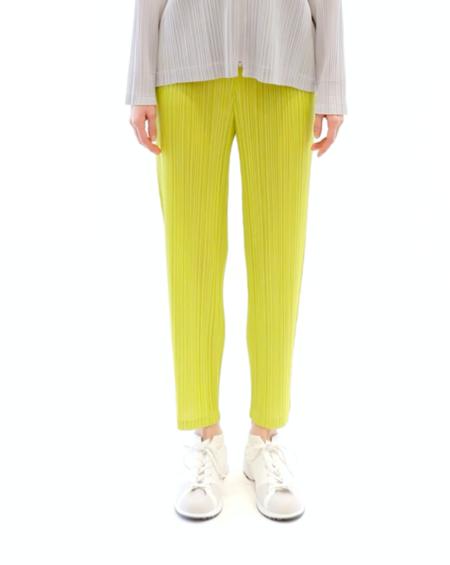 Pleats Please by Issey Miyake Straight Pants - Vivid Green
