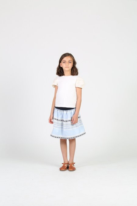 Kids Little Olin Gathered Skirt - Blue