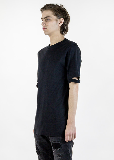 Helmut Lang Black Slash Sleeve T-Shirt