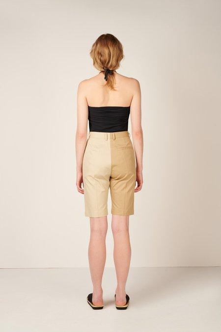 MM6 Maison Margiela Two-Tone Shorts - Beige/Ecru