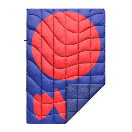 Rumpl The Down Puffy Blanket - BLUE / RED