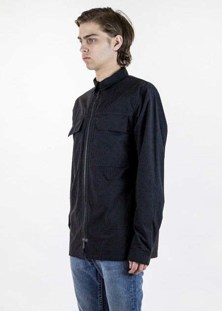 Helmut Lang Double Cloth LS Zip Shirt
