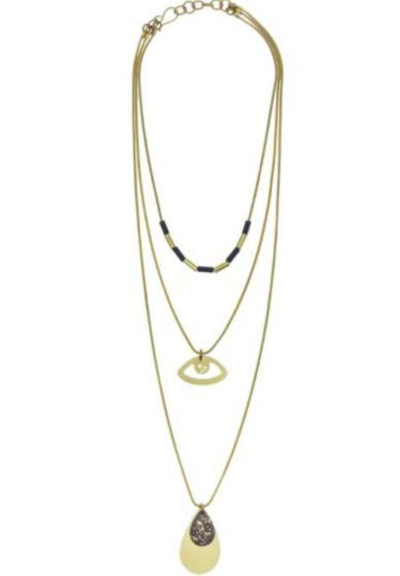 Sibilia Jewelry See You Multilayer Necklace - Brass