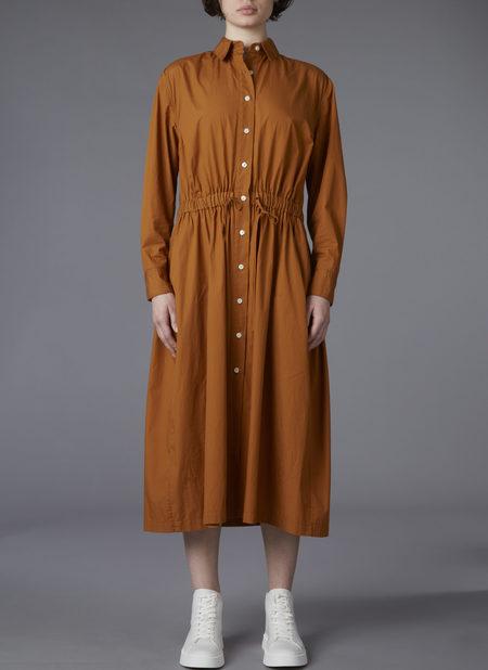 GREI. PARACHUTE SHIRT DRESS - BURNT HONEY