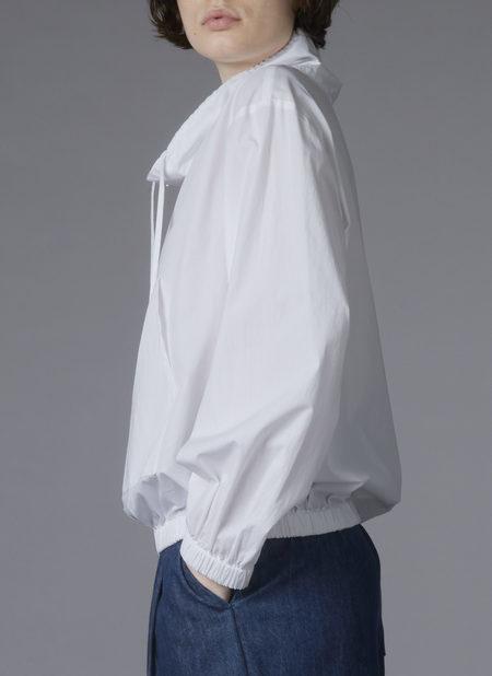 Grei. Cowl Neck Pocket Jumper - White