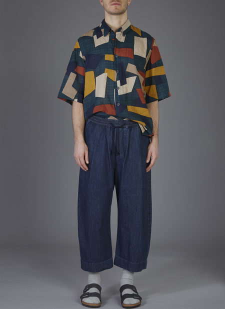 Grei. Ovate Baggy Pant - Midnight Blue Washed Denim