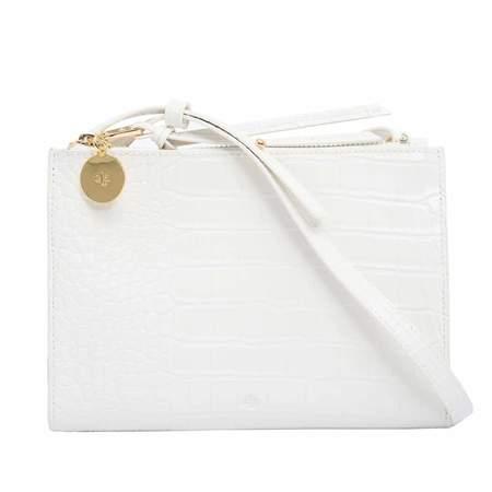 ela Wallet Crossbody bag - White Croc Effect