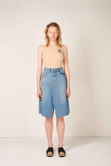 MM6 Maison Margiela Midi denim skirt - Blue