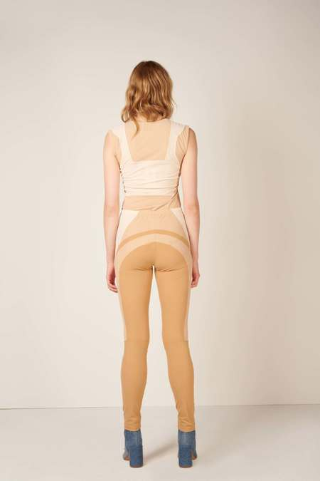 MM6 Maison Margiela Panelled design leggings - Beige/Ecru