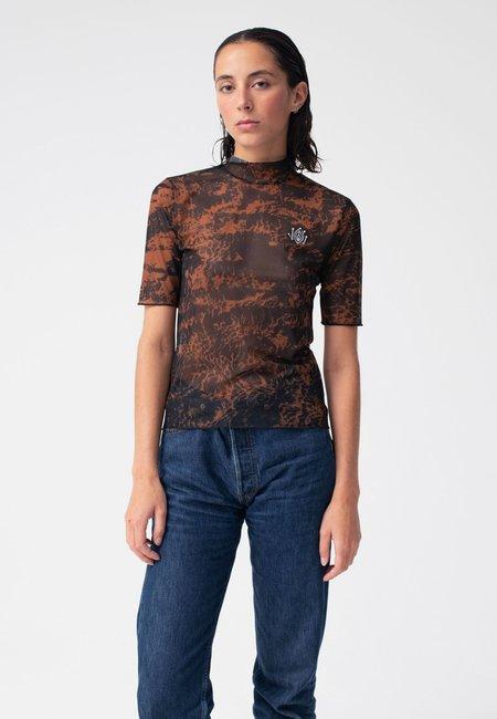 Carne Bollente Mesh Of Desire T-Shirt - leopard