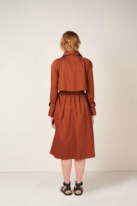 MEUF Double breasted trench coat - Brown