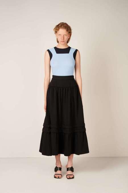 MM6 Maison Margiela High-waist tiered skirt - Black