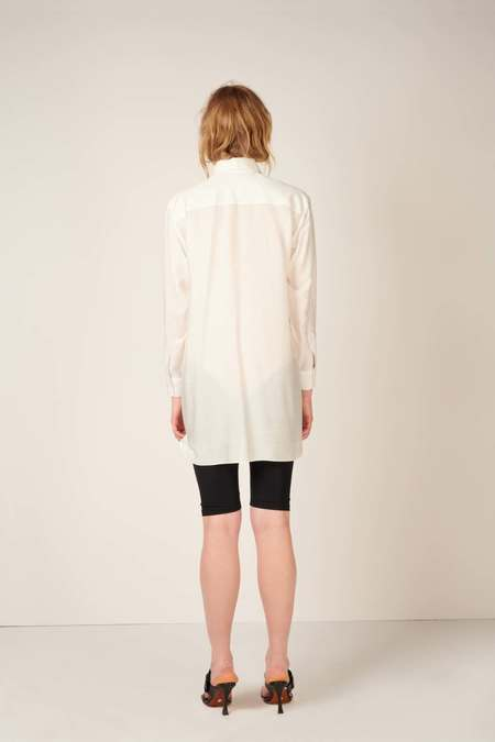 MEUF Long button down shirt - White