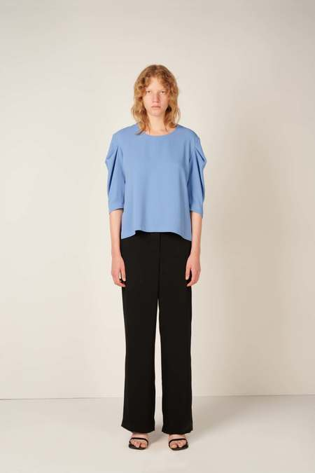 MM6 Maison Margiela Ruched sleeve top - Blue