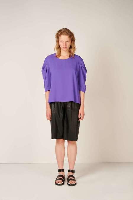 MM6 Maison Margiela Ruched sleeve top - Purple