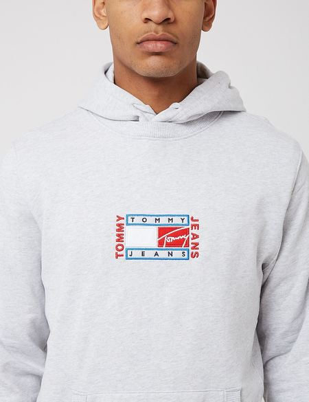 Tommy Jeans Timeless Hoodie - Silver Grey Heather