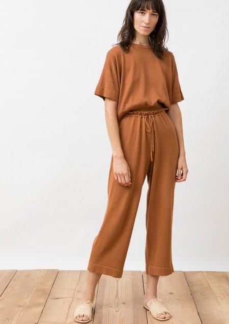Jungle Folk Knit Pants - Villa rust