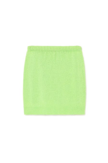 Paloma Wool Kadabra Knit Skirt - Green Fluor