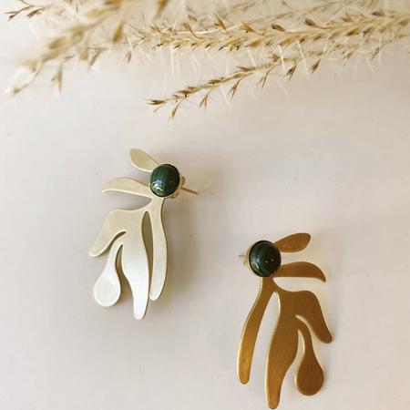 Océanne Matisse Earrings - Brass