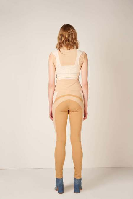 MM6 Maison Margiela Colour block sleeveless top - White/Beige
