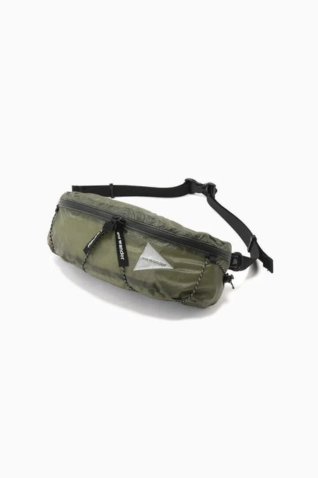 and wander Sil Waist Bag - Khaki