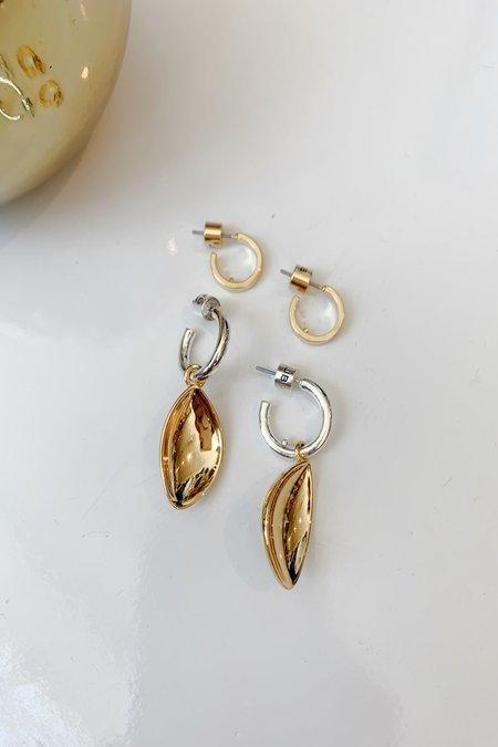 Jenny Bird Cordo Convertible Hoops - Gold/Silver
