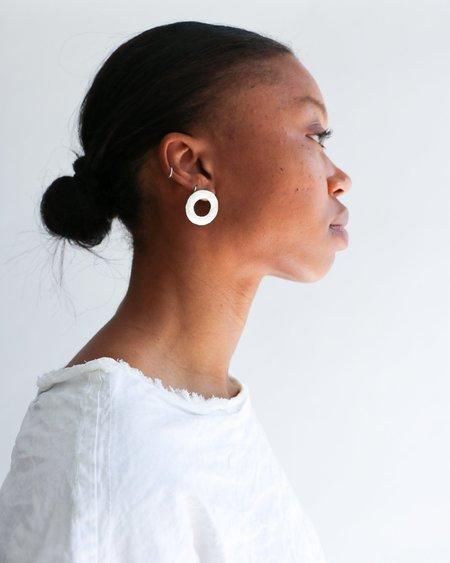 [Pre-loved] Zara Malikova The Circle Earrings - Silver