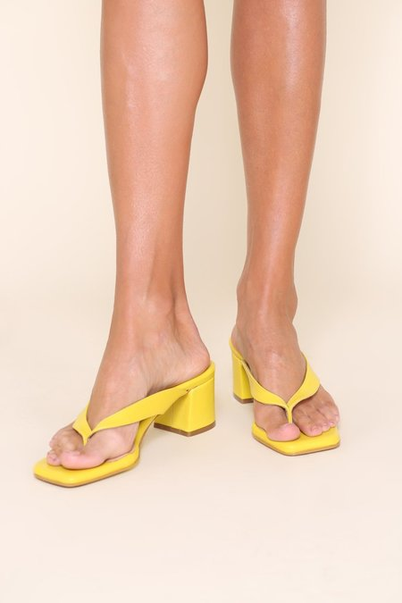 """""""INTENTIONALLY __________."""" TEA shoes - Yellow"""