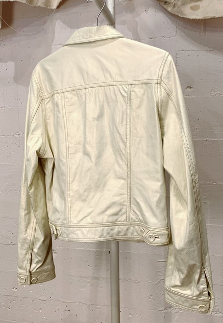 Vintage Pearlescent Leather Jacket