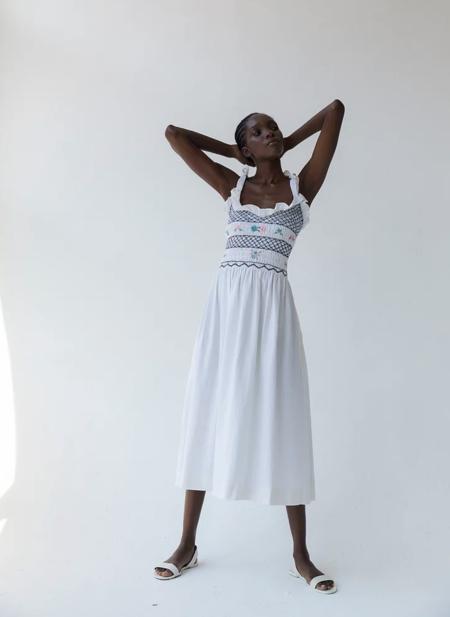 Tach Clothing Ami Linen Dress - white