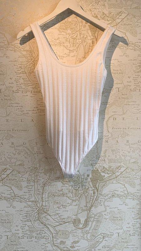 Jonathan Simkhai Irene Rib Bodysuit - White