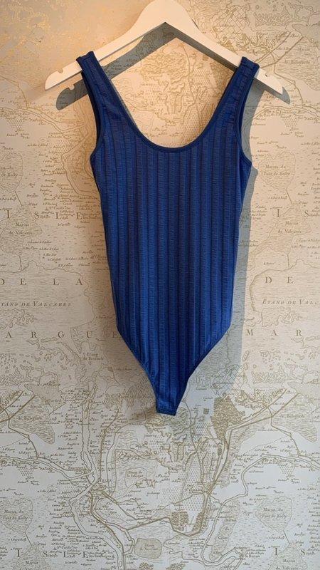 Jonathan Simkhai Irene Rib Bodysuit - Blue