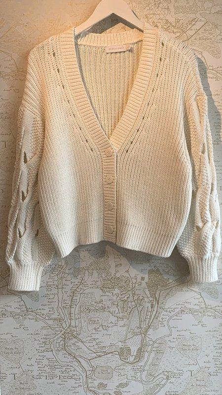 Jonathan Simkhai Reagan Cable Knit Cardigan - White