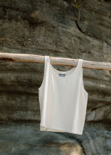 Jungmaven Cropped Tank - Washed White