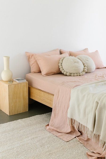 Pampa Linen Fitted Sheet - Clay