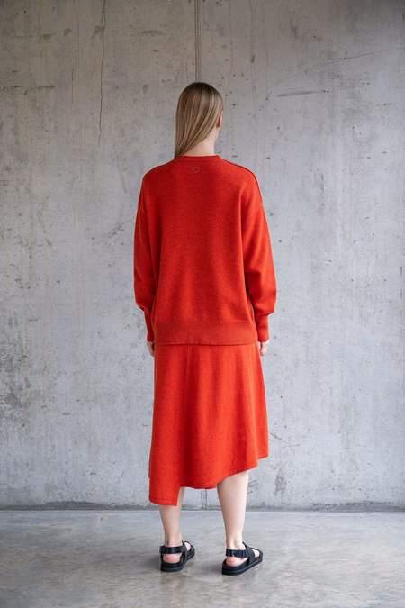 Unisex Oyuna Earth Cashmere Sweater - Magma