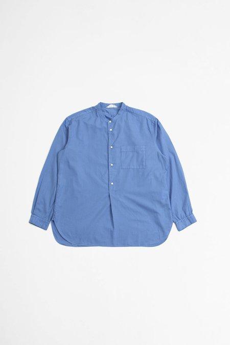 Still By Hand Garment dye pullover shirt - blue