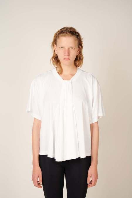 MM6 Maison Margiela Gathered detail T-shirt - White