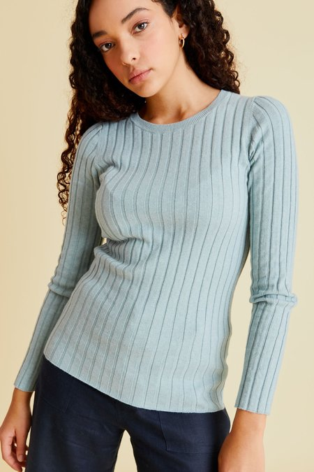 hej hej Layer Cake Knit sweater - Seafoam