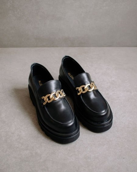 Alohas Track Total Loafers - Black