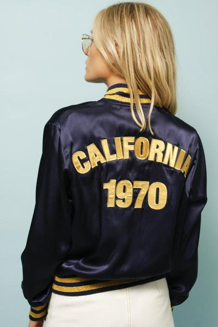 STONED IMMACULATE CALIFORNIA 1970 BOMBER jacket - blue