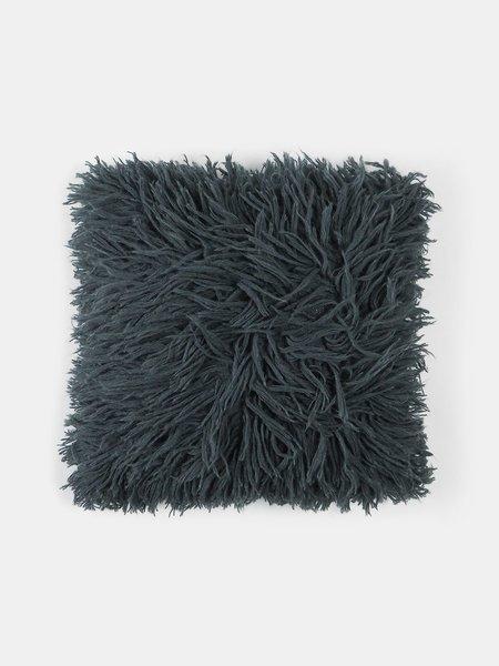 Erica Tanov Alpaca Shag Pillow - Petrol