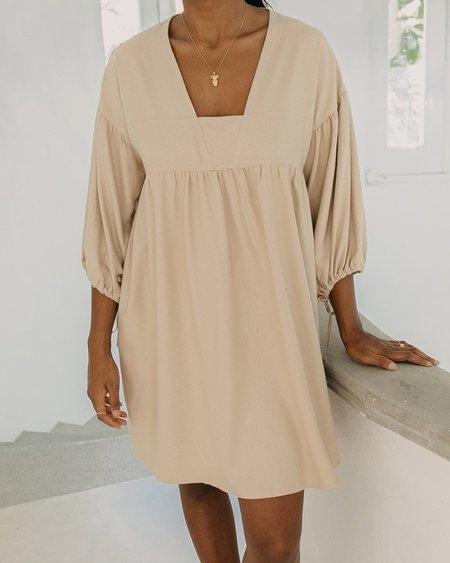 harly jae Paysanne Mini Dress - Sand