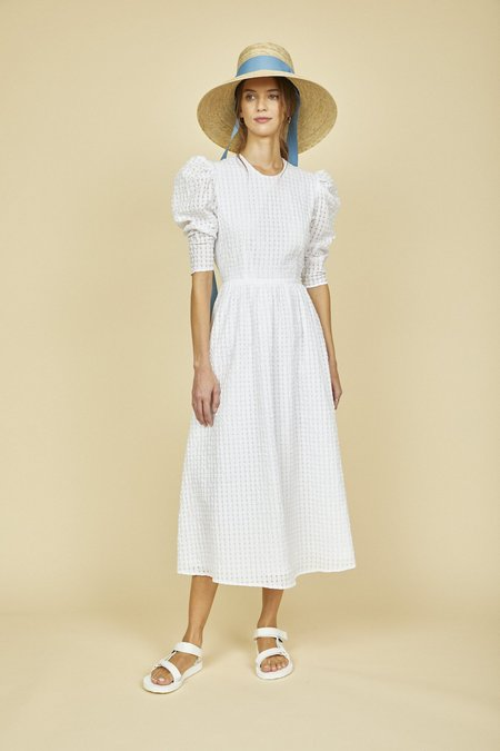 Hunter Bell ROWAN DRESS - LUXE SEERSUCKER