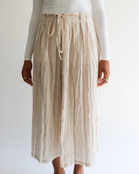 [pre-loved] Moskiddos Striped Midi Skirt - Cream