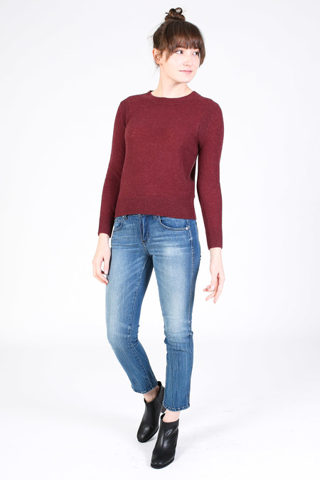 Steven Alan Chord sweater in burgundy