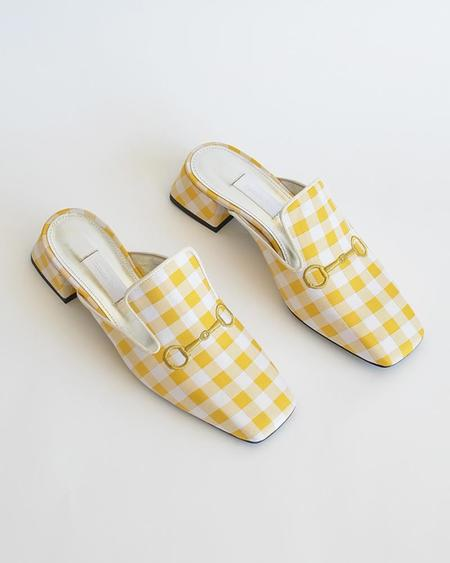 Vamp Shoes Suzanne Rae Vichy mule - yellow gingham